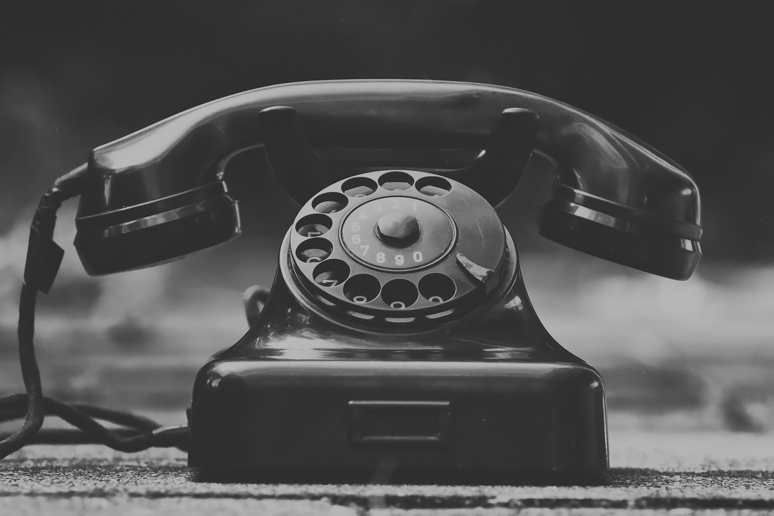Pixabay - an old rotary phone in a spooky yesterworld
