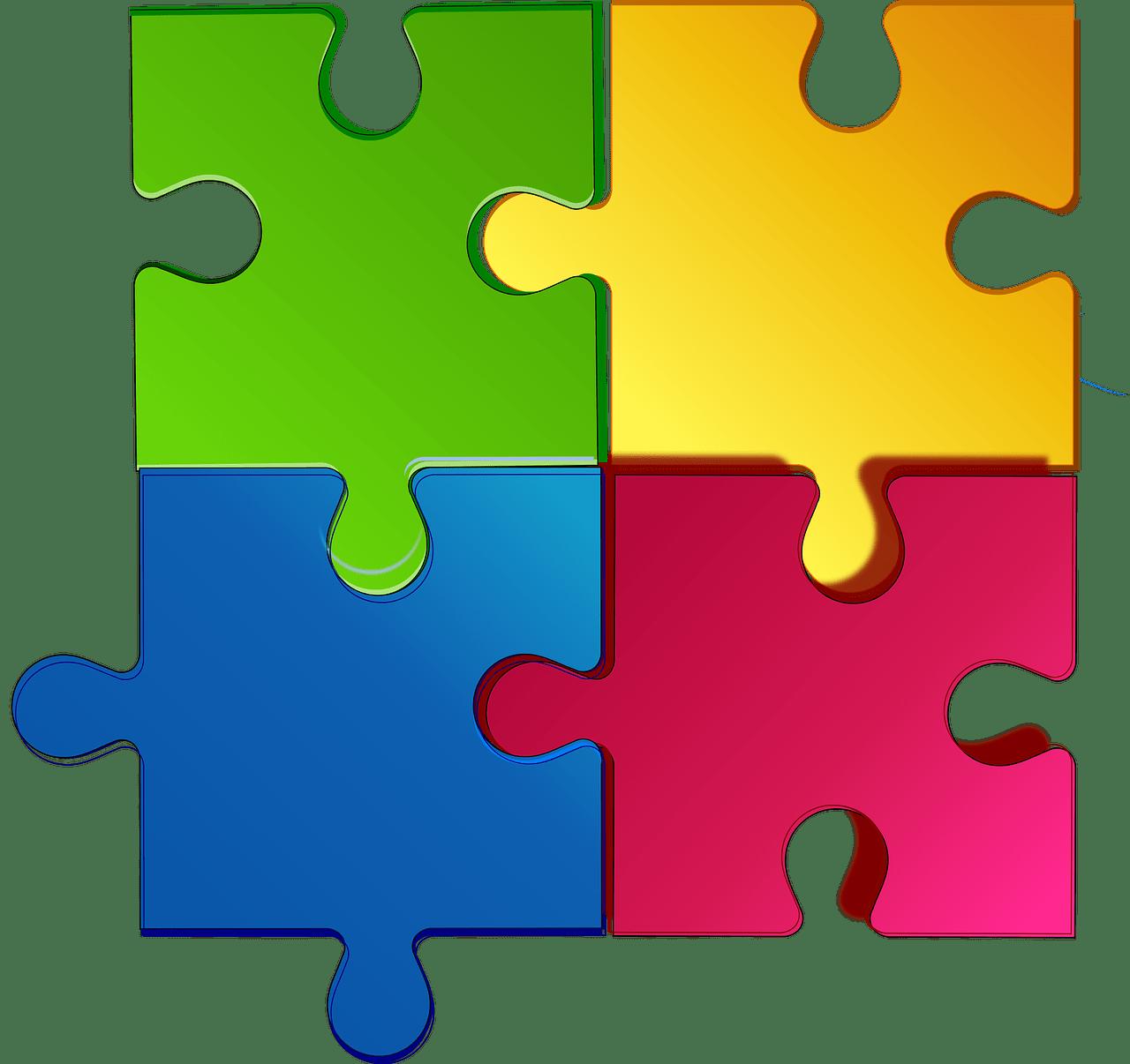 Pixabay - Jigsaw interconnections