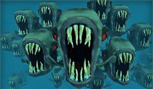 Risks can feel a lot like piranha ! (photo courtesy Pixabay)